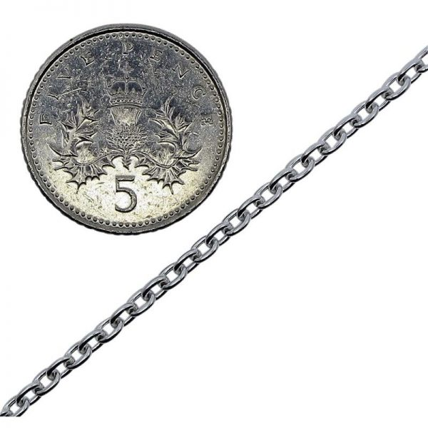 Sterling Silver Medium Belcher Chain -6