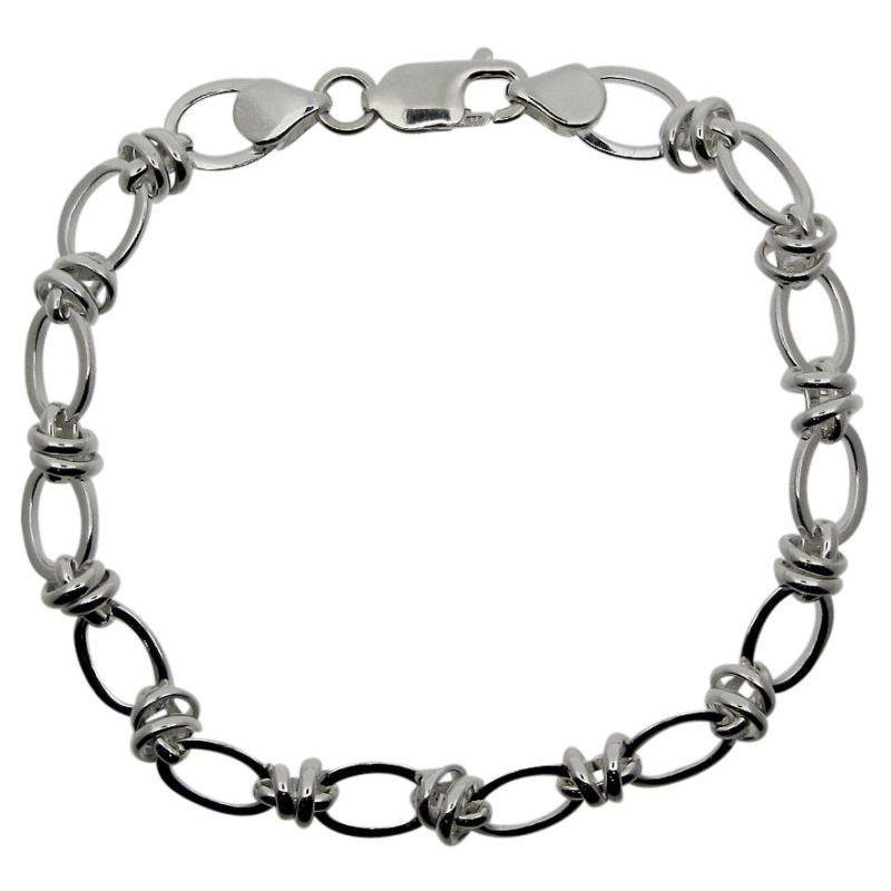 Double Loop Link Bracelet-0