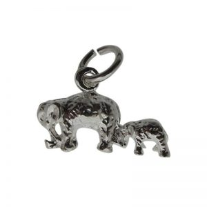 Elephant and Baby Charm-0
