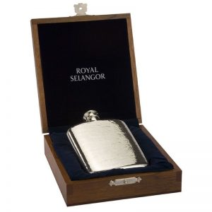 Heavy Pewter Hip Flask-0
