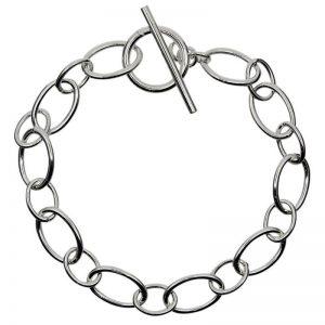 Oval linked T-Bar Bracelet-0