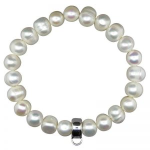 Pearl and Silver Bracelet-0