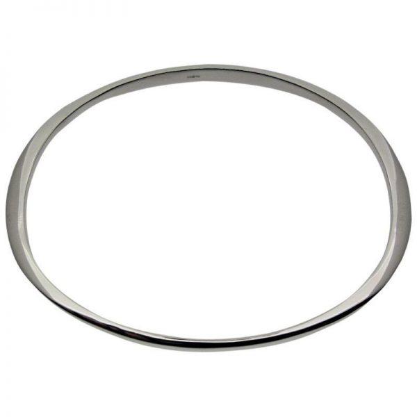 Shaped Oval Bangle-0