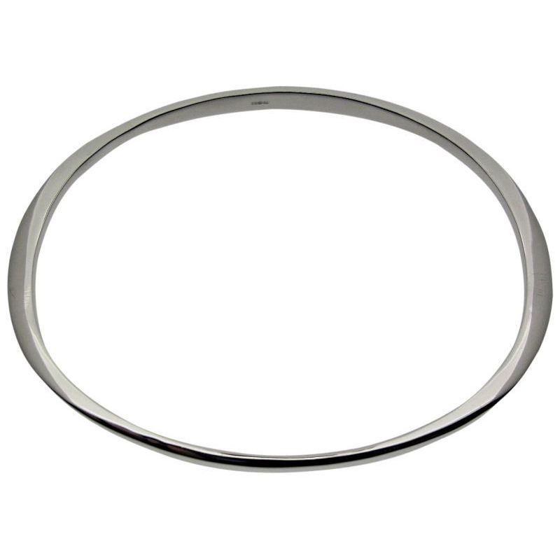 Shaped Oval Bangle-0