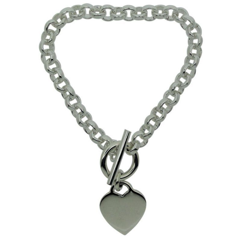Heart and T-Bar Heavy Bracelet -0