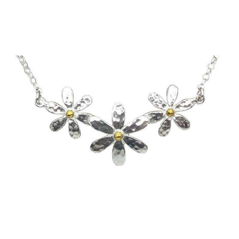 Triple Daisy Necklace-0