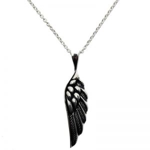 Oxidised Angel-Wing Necklace-0