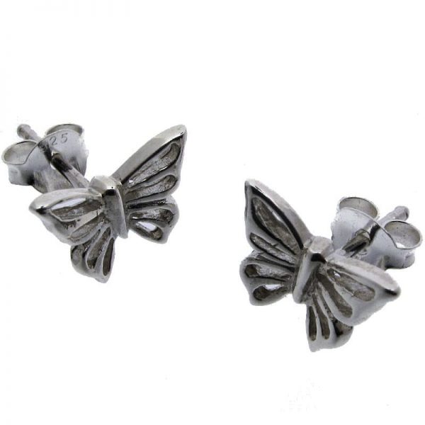 Butterfly Stud Earrings-0