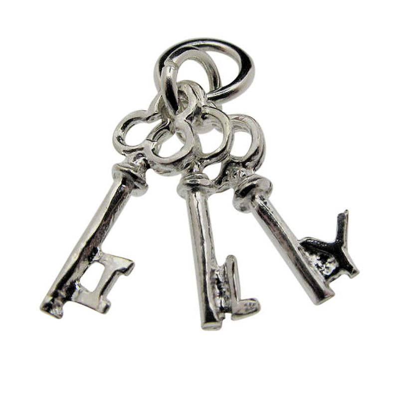 'I love you' keys charm-0