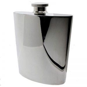 Large Pewter Hipflask-0