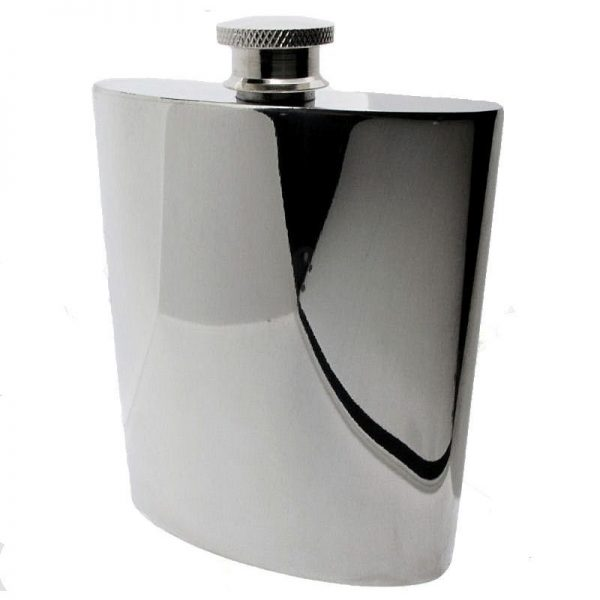 Large Pewter Hipflask-0