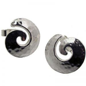Medium Spiral Stud Earrings-0