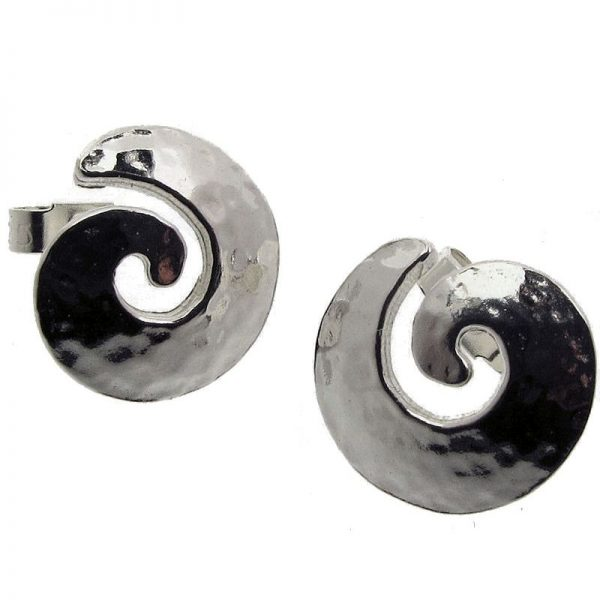 Medium Spiral Stud Earrings-0