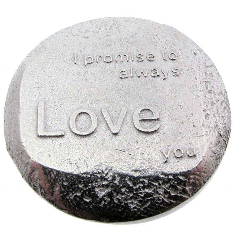 """Pewter """"Promise to Love"""" Trinket Box-87"""