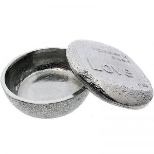 "Pewter ""Promise to Love"" Trinket Box-0"