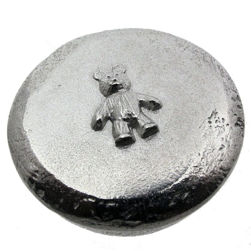 Pewter Teddy Trinket Box-0