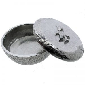 Pewter Teddy Trinket Box-84