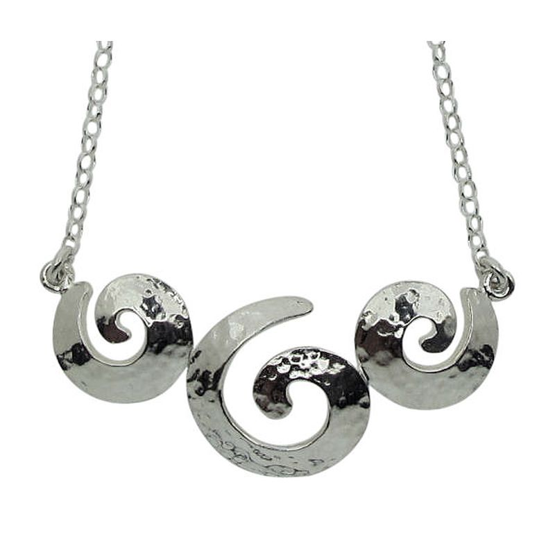 Triple Spiral Necklace-0