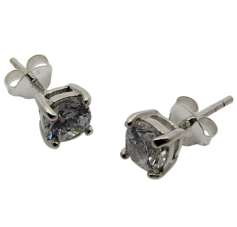 Cubic Zircona Stud Earring-0