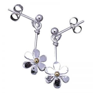 Stud-Drop Daisy Earrings-0