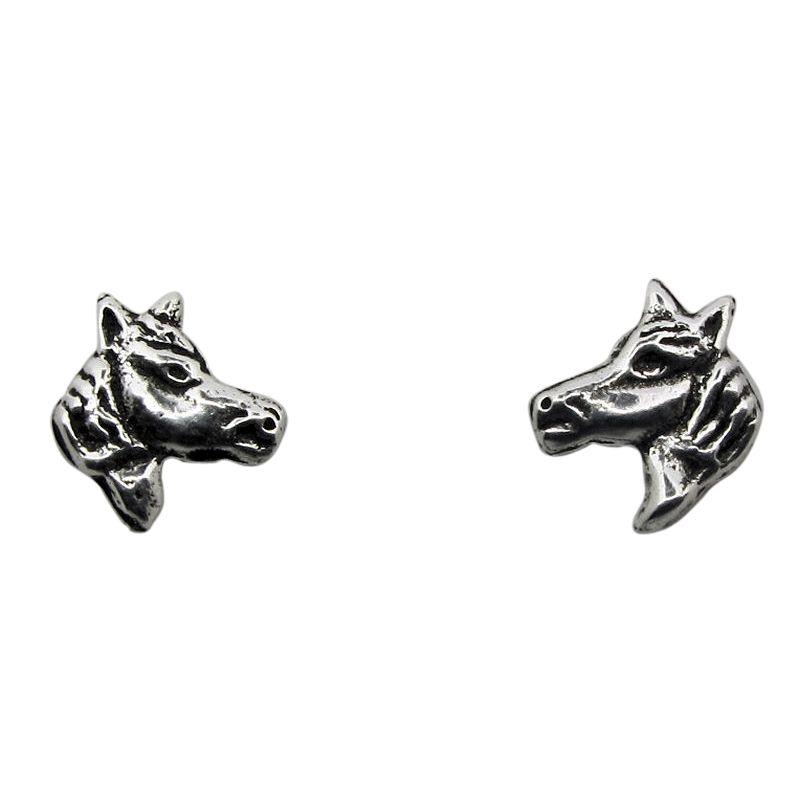 Horse Head Stud Earrings-236