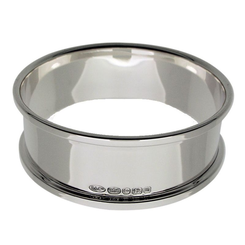Sterling Silver Round Napkin Ring-0