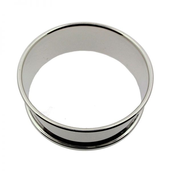 Sterling Silver Round Napkin Ring-298