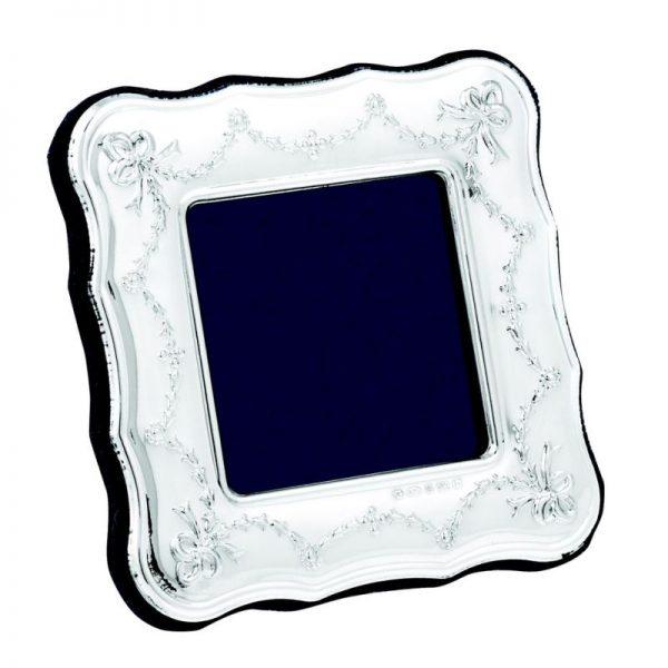 Square Sterling Silver Ribbon Frame-0