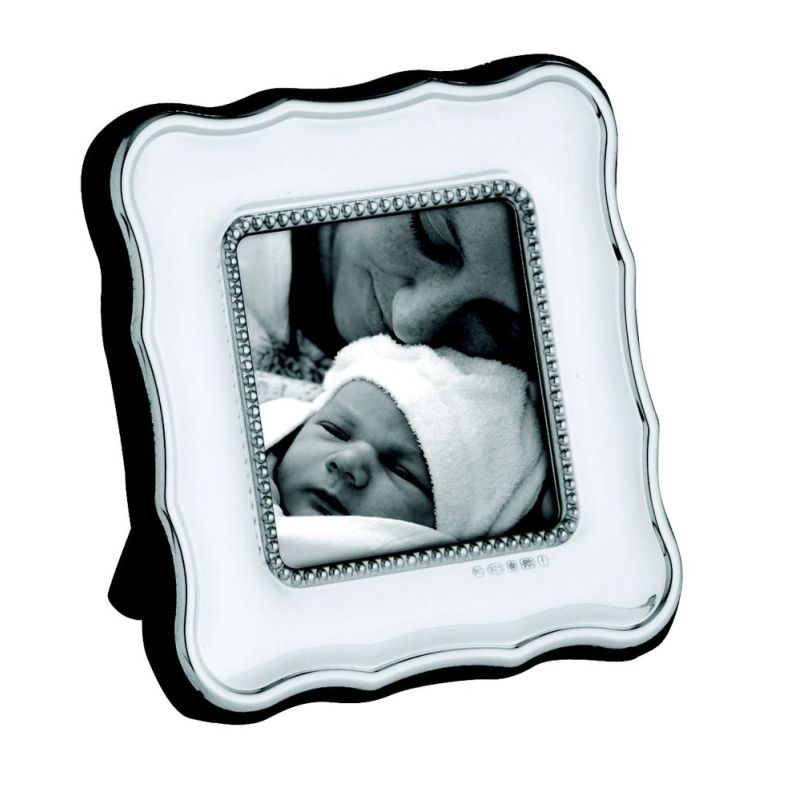 Sterling Silver Square Bead Frame-0