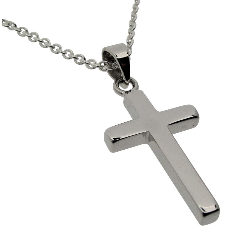 Silver Cross and Chain-377