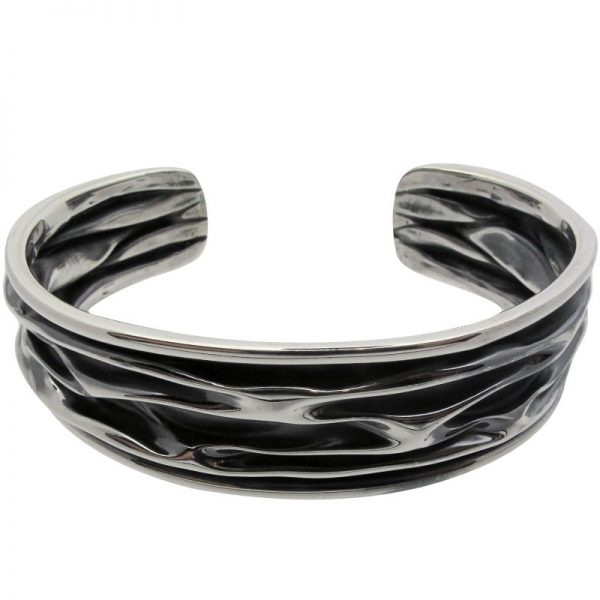 Narrow Oxidised Cuff-376