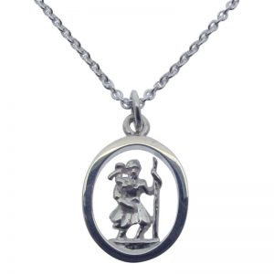 3D St Christopher Necklace-0