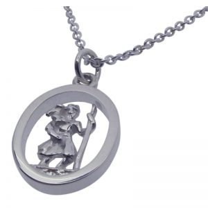 3D St Christopher Necklace-388