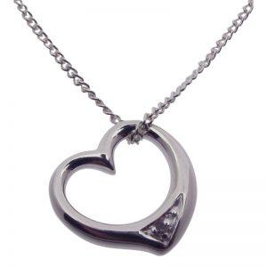 Diamond Floating Heart-419