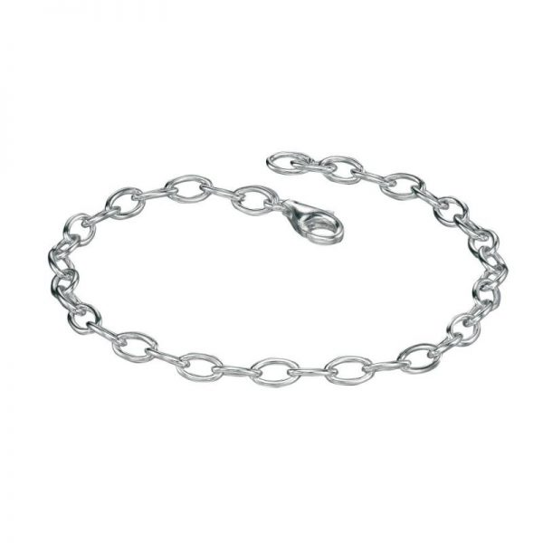 Plain Linked Charm Bracelet-0