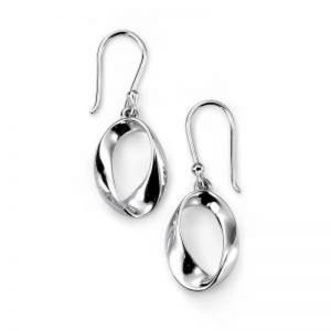 Twisted Oval Drop Earrings-0
