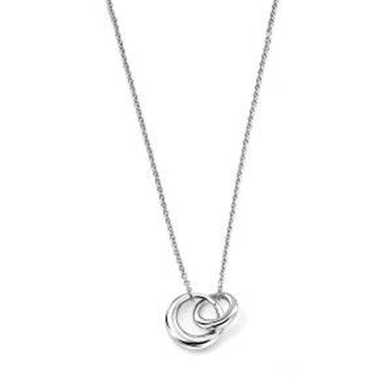 Intertwining links Necklace-0
