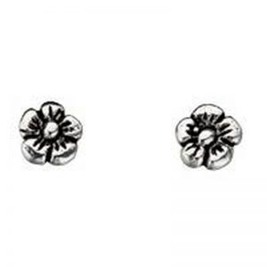 Flower Stud Earrings-0