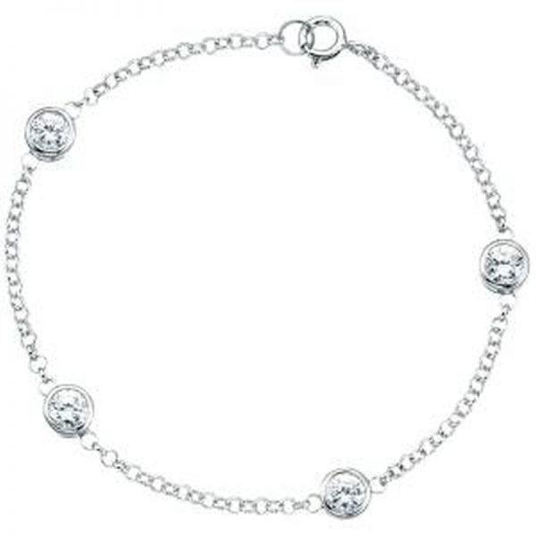 Cubic Zirconia Bracelet-0