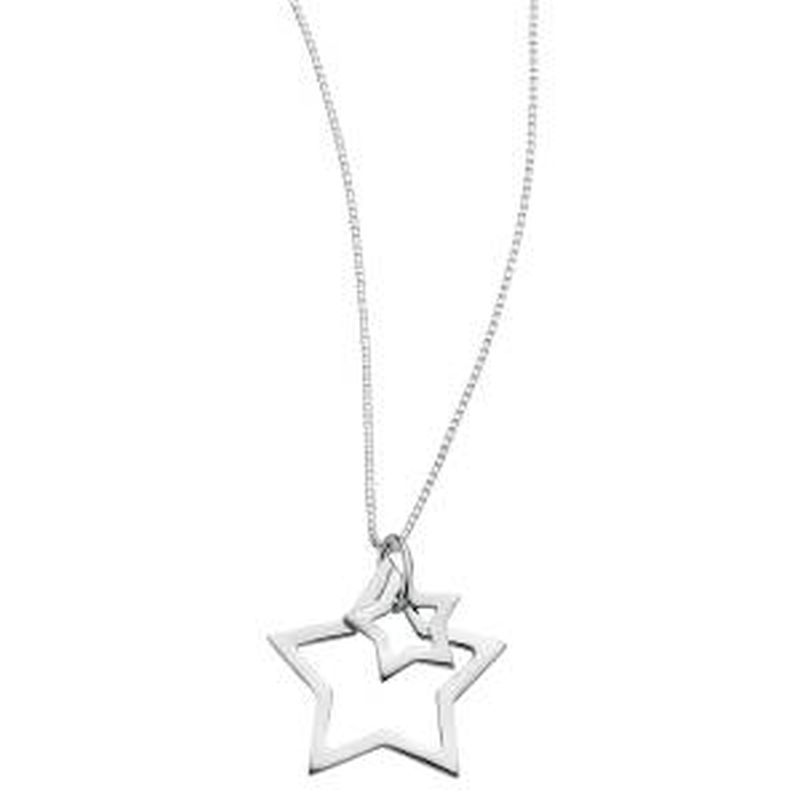 crescent star tone pendant moon us necklace silver and gold glitter
