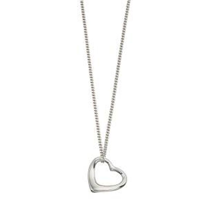 Floating Heart Necklace-0