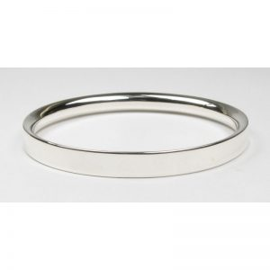 Heavy D-Section Bangle-0