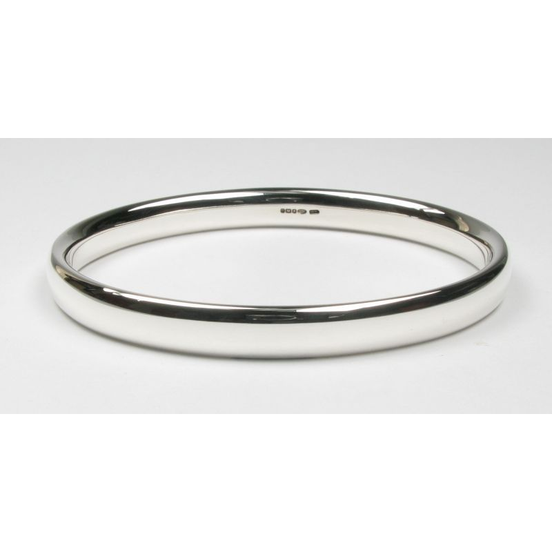 Heavy Oval Section Bangle-0