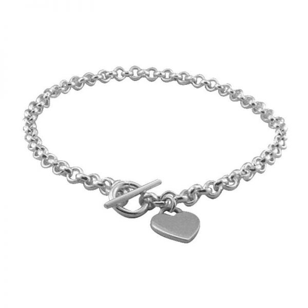 Heart and T-Bar Heavy Necklace-0