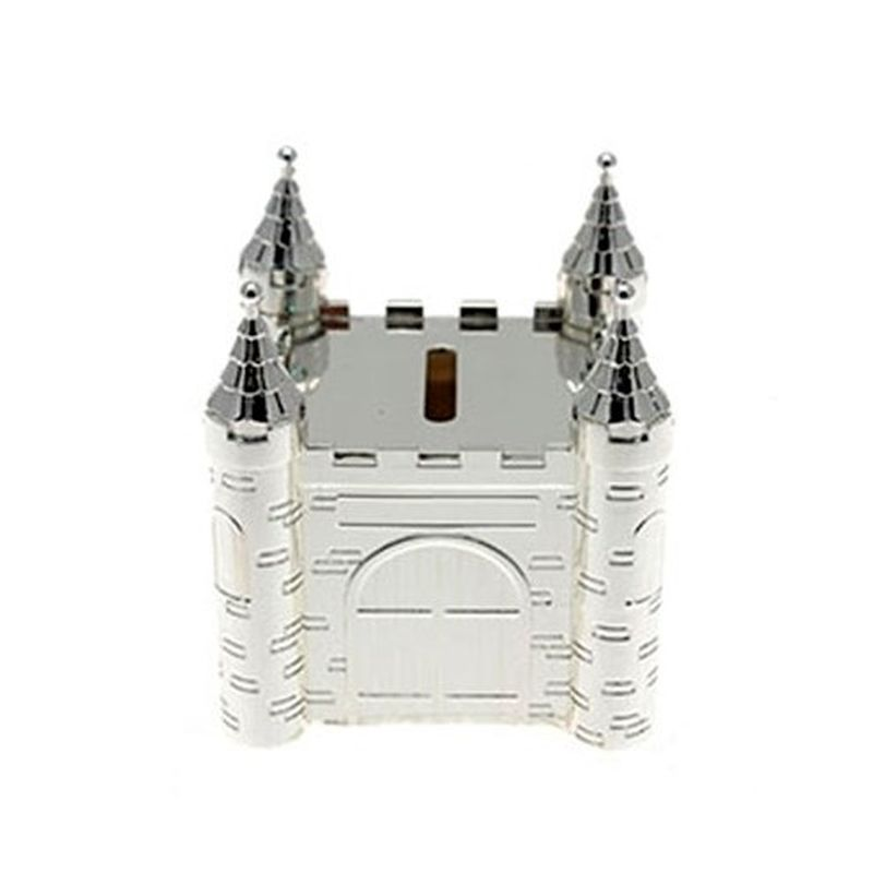 Silver Plated Castle Money Box-0