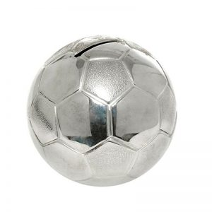 Silver Plated Football Money Box-0