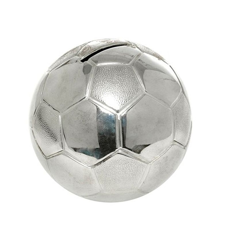 Silver Plated Football Money Box-0