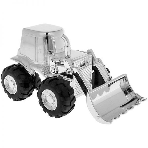 Silver Plated Tractor Money Box-0