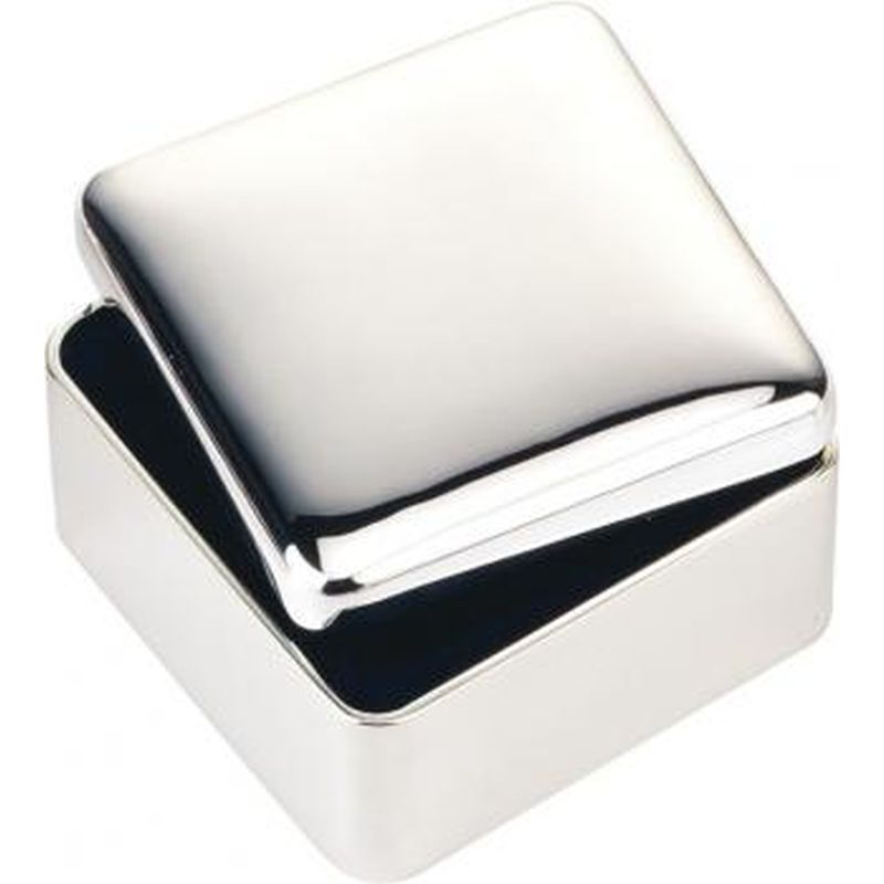 Silver Plated Square Trinket Box-0