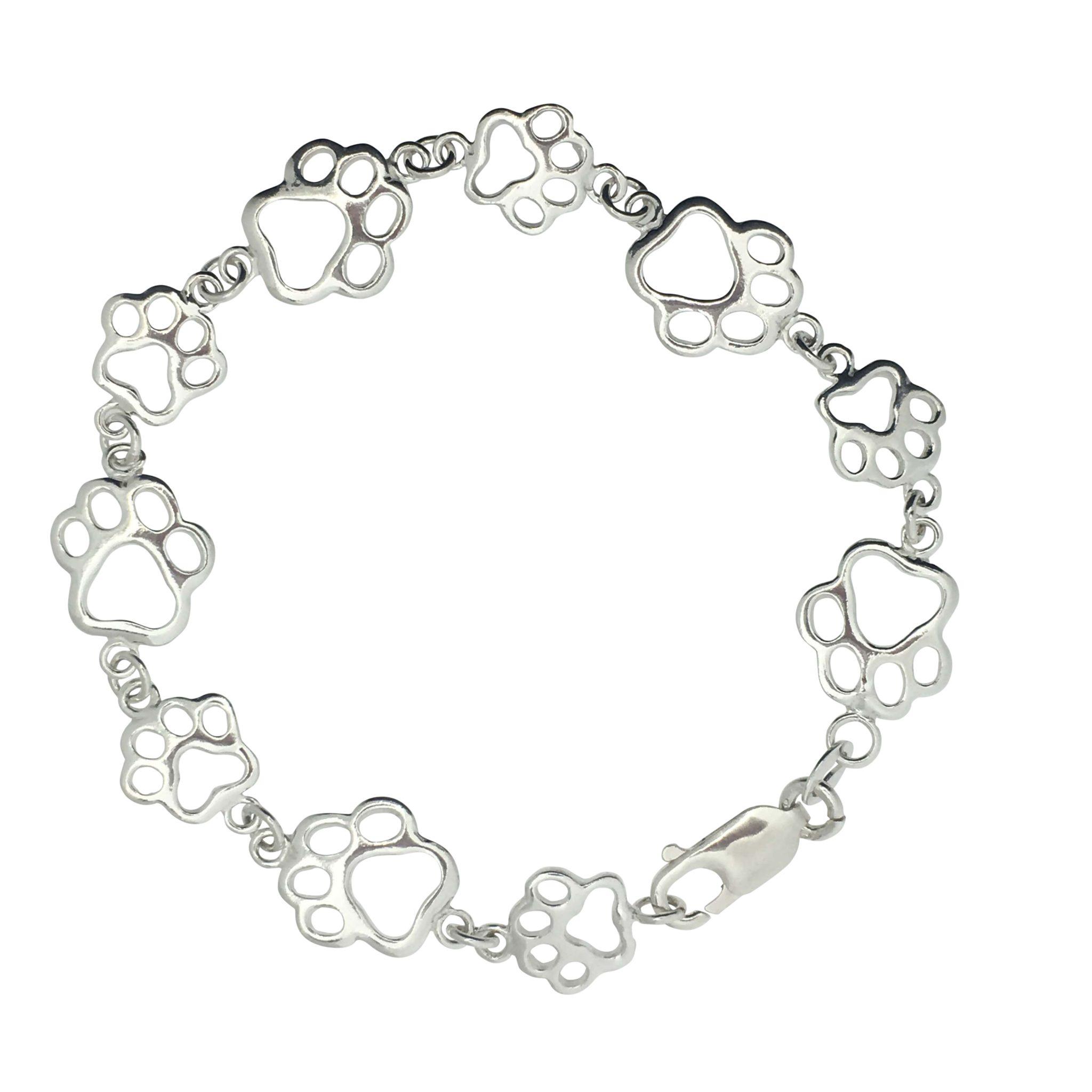 Pawprint Bracelet - The Silver Shop of Bath